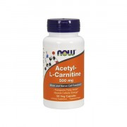 Л-карнитин в таблетках и капсулах NOW Acetyl-L-Carnitine 500 мг  (50 капс)
