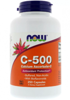 Витамин C NOW C-500 Calcium Ascorbate-C  (250c.)