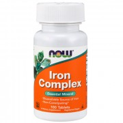 Железо NOW Iron Complex   (100 tab.)