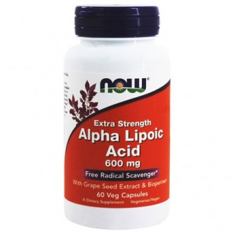 Альфа-липоевая кислота NOW Alpha Lipoic Acid 600mg   (60 caps.)