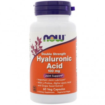 Гиалуроновая кислота NOW Hyaluronic Acid 100mg   (60 caps.)