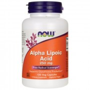 Альфа-липоевая кислота NOW Alpha Lipoic Acid 250 мг  (60 капс)
